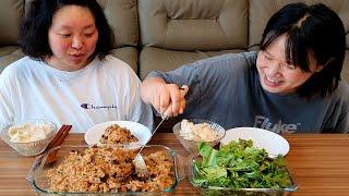 집에서 밥해먹는 일상먹방 브이로그 (김치리조또, 채소샐…
