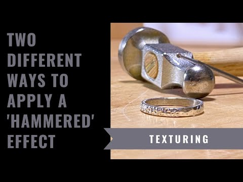 Different Ways To Apply A Hammered Finish To A Silver Ring
