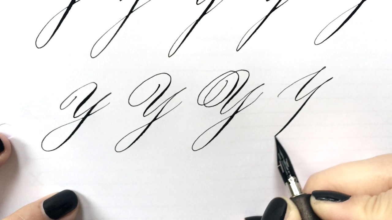 Modern calligraphy letter quot y youtube
