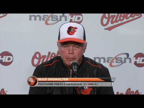 Buck Showalter on Orioles' 5-1 win and moving into second on O's all-time wins list