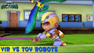 Vir The Robot Boy | Hindi Cartoon For Kids | Vir Vs Toy Robots | Animated Series | WowKidz Action
