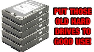 Recycle your old hard drives into storage devices