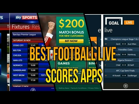 Best Five Football Live Scores Apps 2017