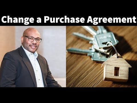 Contract: How To Change A Purchase Agreement