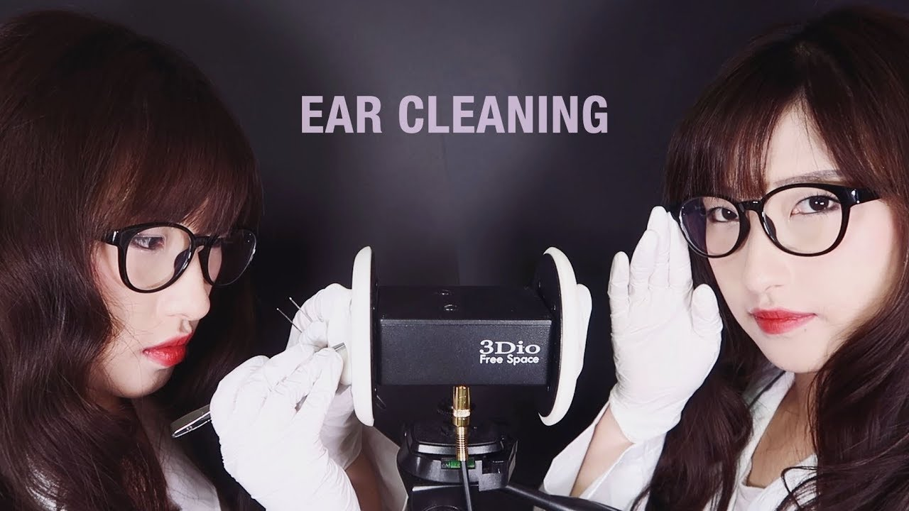 Asmr twin ear cleaning ear oil massage ear brushing ear tapping and tingly sounds - 3 4