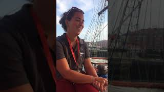 Lucia talking about the benefits of the new galley on the marine environment - Training Ship ATYLA