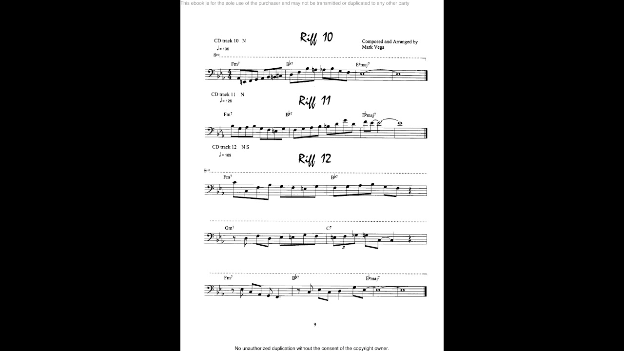 Jazz Solo Series for Trombone instructional book with audio files