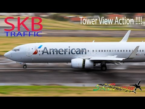 Awesome Tower View !!! AA 737, AA A319, IC EMB 120, LI ATR 72, G5,..@ St. Kitts R.L.B Int'l Airport