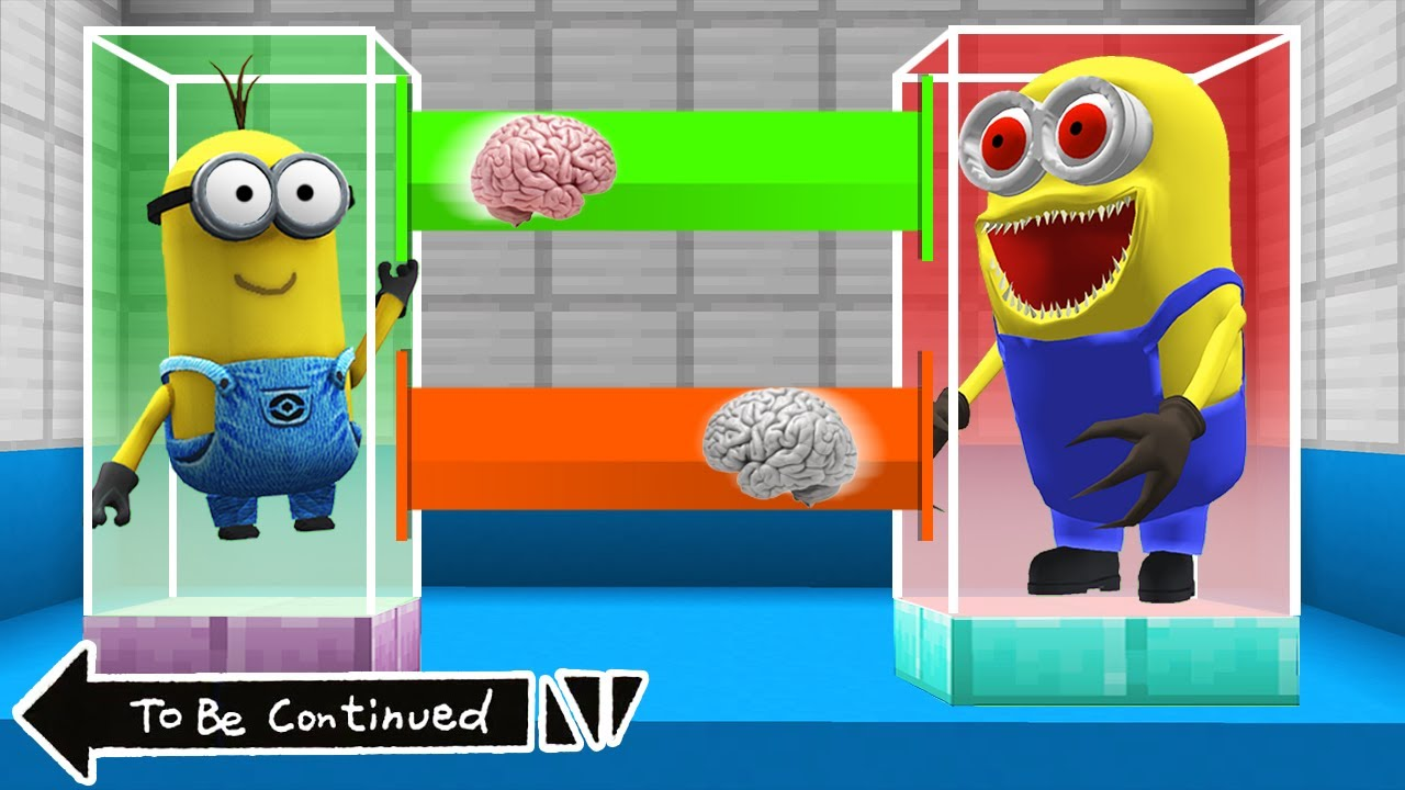 Download BRAIN EXCHANGE MINION vs SCARY MINION in MINECRAFT ! WHAT'S INSIDE MINIONS - Gameplay Movie traps