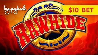 Rawhide Slot - $10 BETS - LIVE PLAY BONUSES!