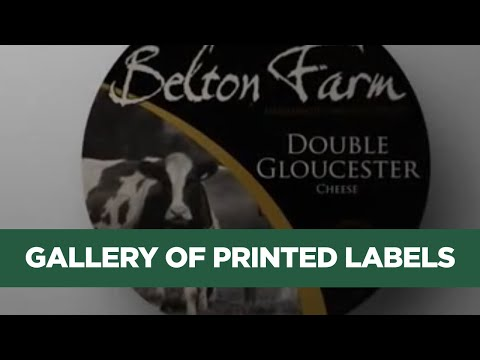 Self Adhesive Labels from Etiquette Label Printers - Gallery of Printed Labels