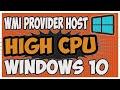 WMI provider host | wmi provider host high cpu | wmiprvse.exe wmi provider host