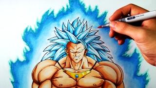 Cmo Dibujar a Broly SSJ3 Dios azul  Dragon Ball  ArteMaster