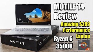 MOTILE 14 Review $299 RYZEN 5 3500U Performance Laptop Amazing Value!