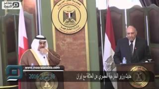 مصر العربية | حديث وزير الخارجية المصري عن العلاقة مع إيران