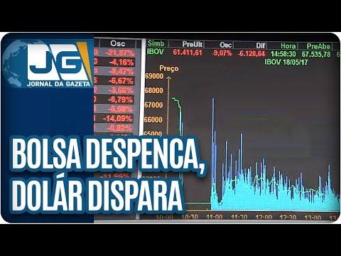 Mercado nervoso: Bolsa despenca, dólar dispara