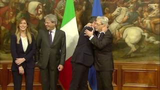 Cerimonia di insediamento del Governo Gentiloni (12/12/2016)