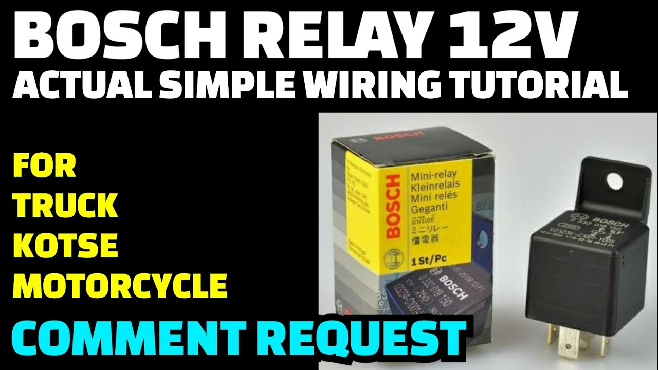 Bosch Relay 12v Actual Wiring Diagram Tutorial  Paano Gumana