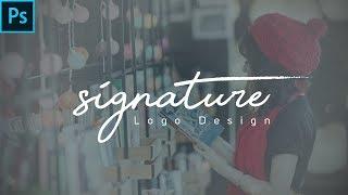 Adobe Photoshop cc, Fotoğraf İçin Kendi İmza, Logo Oluşturma