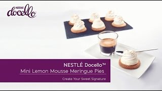 Mini Lemon Mousse Meringue Pies With NestlÉ Docello White Mousse Mix