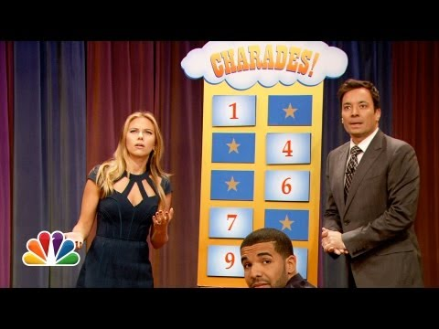 Thumbnail: Charades with Scarlett Johansson and Drake (Late Night with Jimmy Fallon)