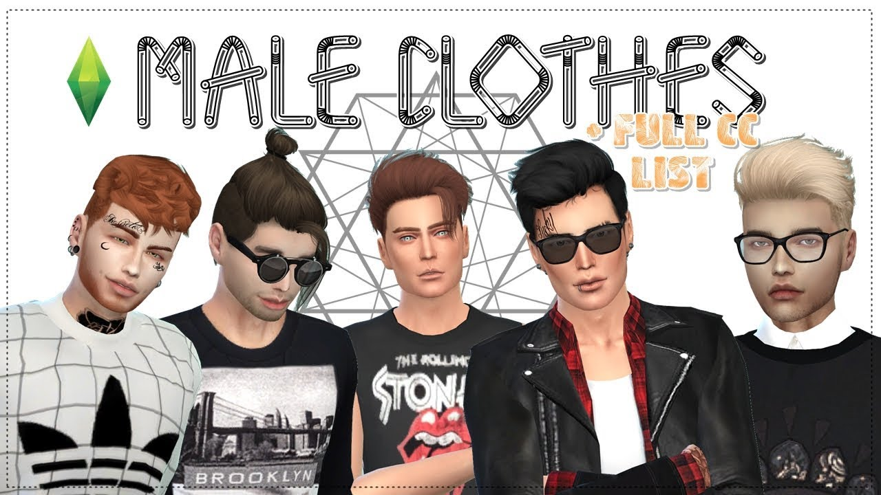 Pack Roupas Masculinas Male Clothes Full Cc List The Sims
