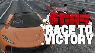 RIJD MIJN BOMB IN VINCENT! (GTA V RACE TO VICTORY #26)
