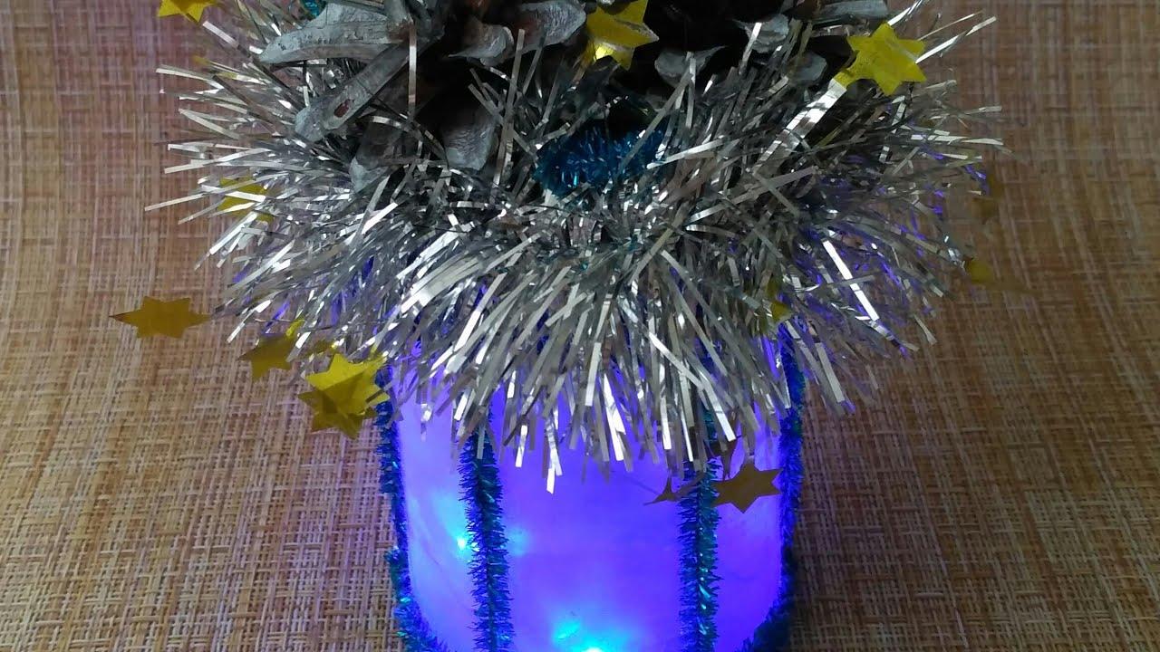 Рождественский синий фонарик