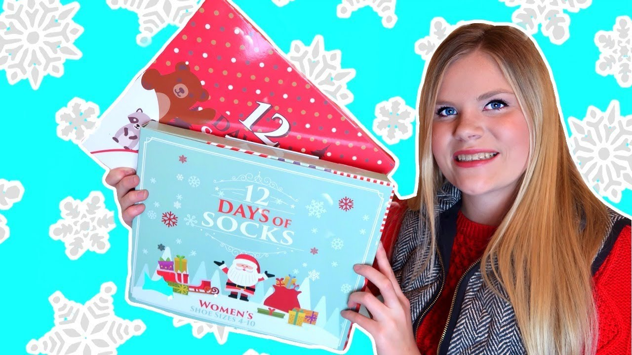 target 12 days of socks christmas advent countdown calendar unboxing