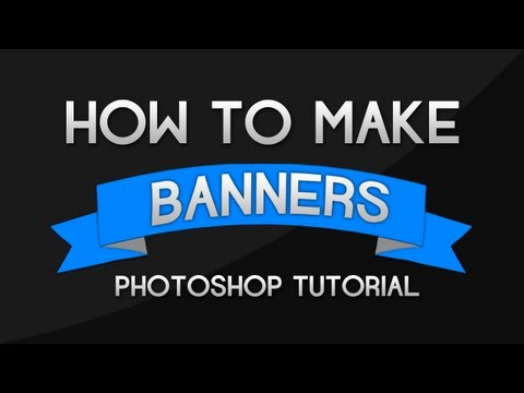 Photoshop Tutorial - How to make Banners and Ribbons