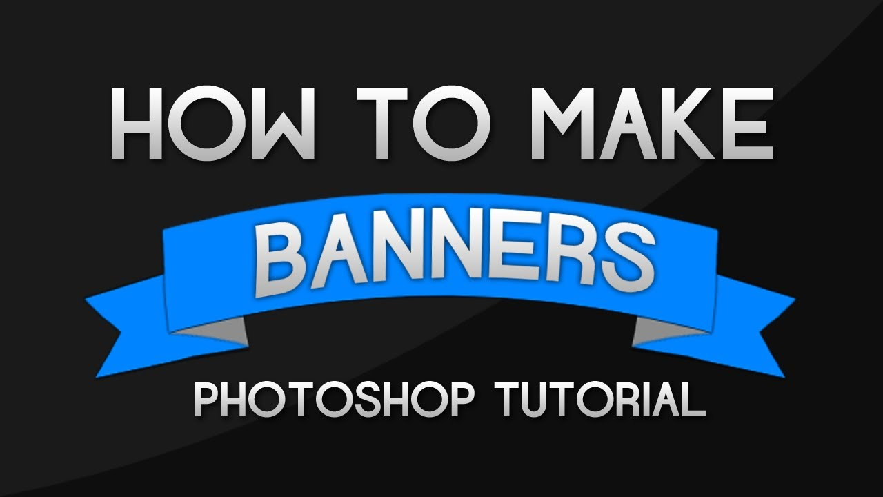 Photoshop tutorial how to make banners and ribbons youtube baditri Image collections