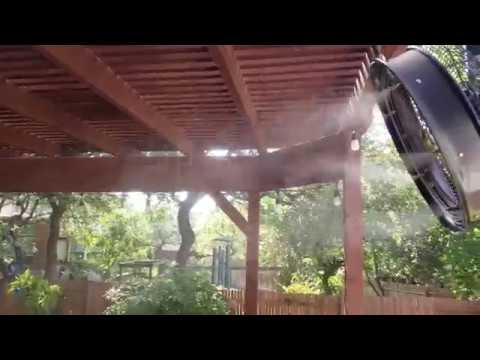 Residential Mist Cooling Systems Patio Installation