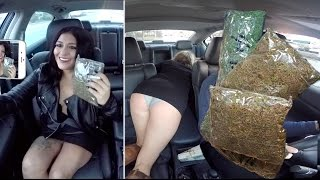 One of HammyTV's most viewed videos: Selling Massive Amounts Of Marijuana While Driving For Uber Prank!!