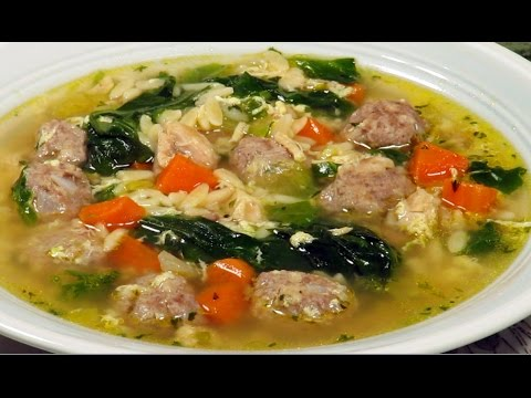 Learn to make Italian wedding soup by your self
