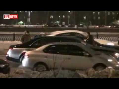 Dure aanrijding in Moskou