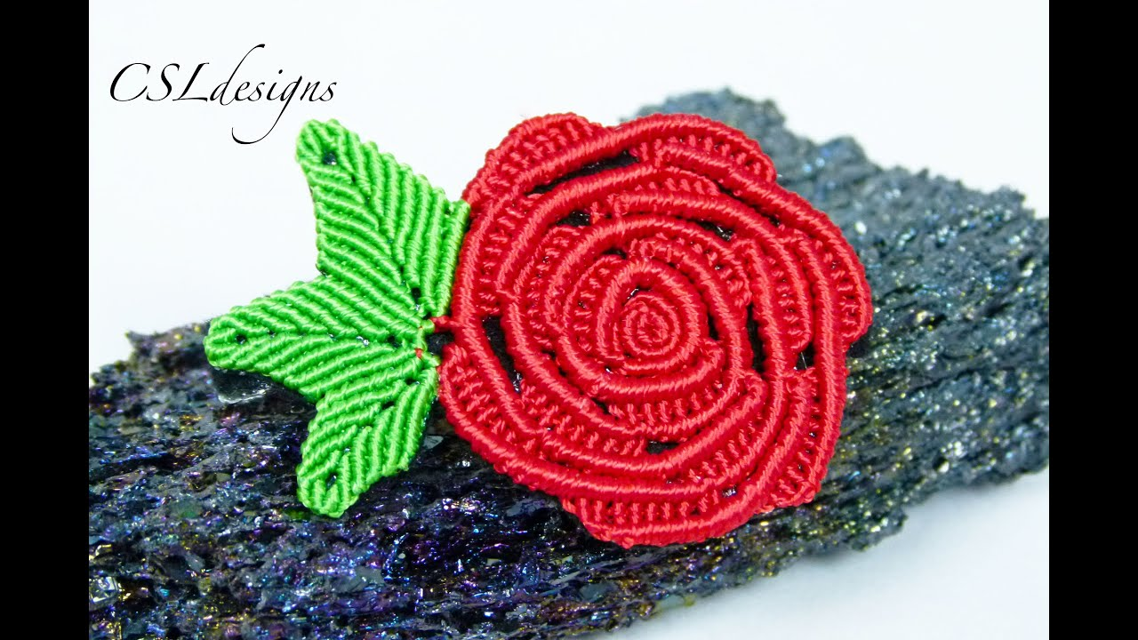 Micro Macrame Rose Valentine S Day Youtube