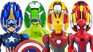 Marvel Avengers & Carbot Kung Go~! Hulk, Spider-Man, Iron Man, Captain America