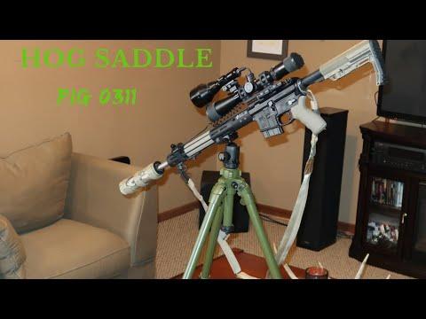 Rifle Tripod Setup - Hog Saddle Pig 0311