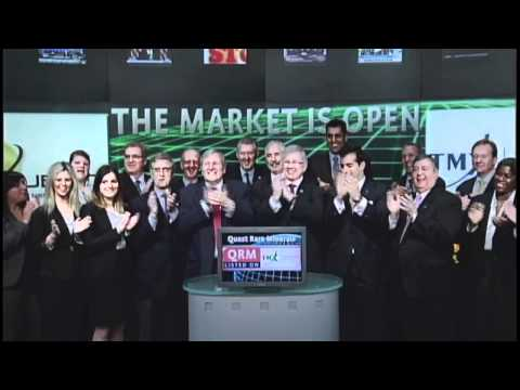 Quest Rare Minerals (QRM:TSX) opens Toronto Stock Exchange, April 11, 2012.
