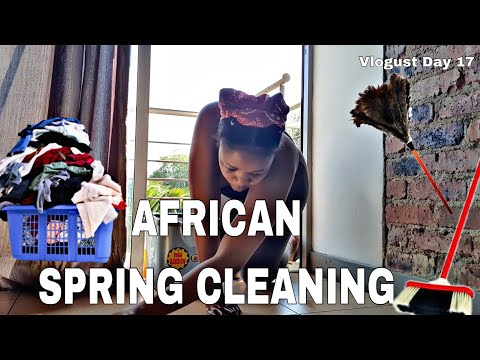 Vlogust: Day 17 | AFRICAN SPRING CLEANING | Tumie Mosia
