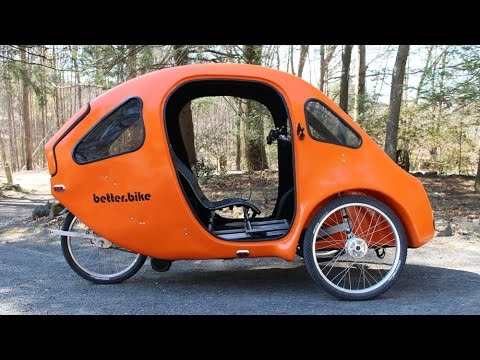 pebl the fully enclosed pedal electric velomobile youtube. Black Bedroom Furniture Sets. Home Design Ideas