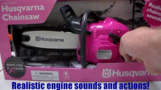 Husqvarna Toys! Toy Chainsaw, Toy Leaf Blower, Toy String Trimmer, Toy Hedge Trimmer, Toy Push Mower