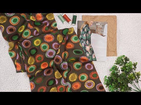 Ткань Штапель шелк принт в магазине Текстилия