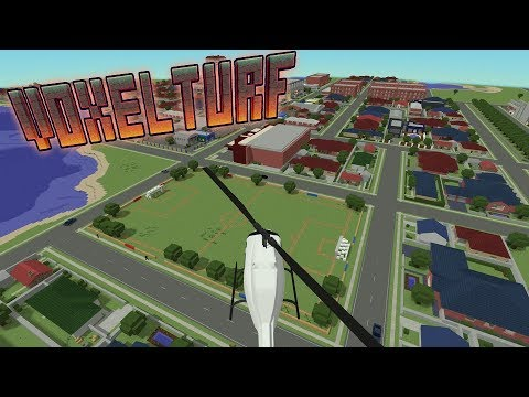 Voxel Turf Game - STARTING A TURF WAR & BUILDING A NEIGHBORHOOD!! - Voxel Turf Gameplay & Review