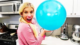 DIY Giant Bouncy Ball. Learn How To Make a Pokemon Ball out of Slime!