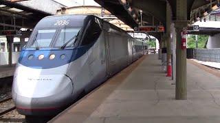 ᴴᴰ Amtrak Acela Express Action at Baltimore Penn Station