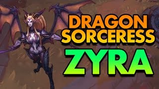 DRAGON SORCERESS ZYRA SPOTLIGHT! NEW ZYRA SKIN IS AMAZING - PBE League of Legends Commentary