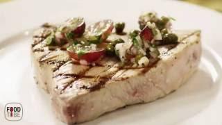 Grilled Tuna Steaks with Grape and Caper Salsa - Recipe