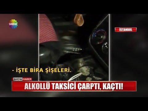 Alkollü Taksici çarptı, Kaçtı!