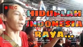 Lagu INDONESIA RAYA berkumandang di GBK qatar vs indonesia afc u19